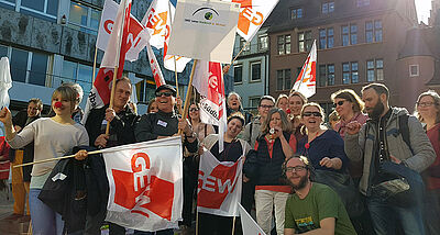 Warnstreik in Freiburg am 21. Februar 2019