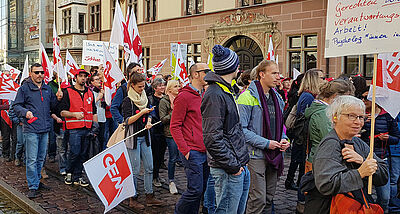 Warnstreik in Freiburg