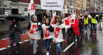 Warnstreik in Karlsruhe
